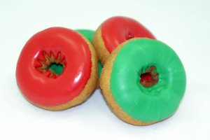 TS Green/Red Iced Plain Cake(Xmas):
