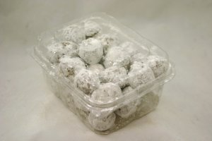 TS Powd Sugar Donut Holes in Clam Shell