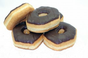 TS Choc Iced Ring Donuts: