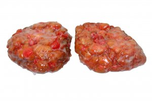 TS Glazed Cherry Fritters: